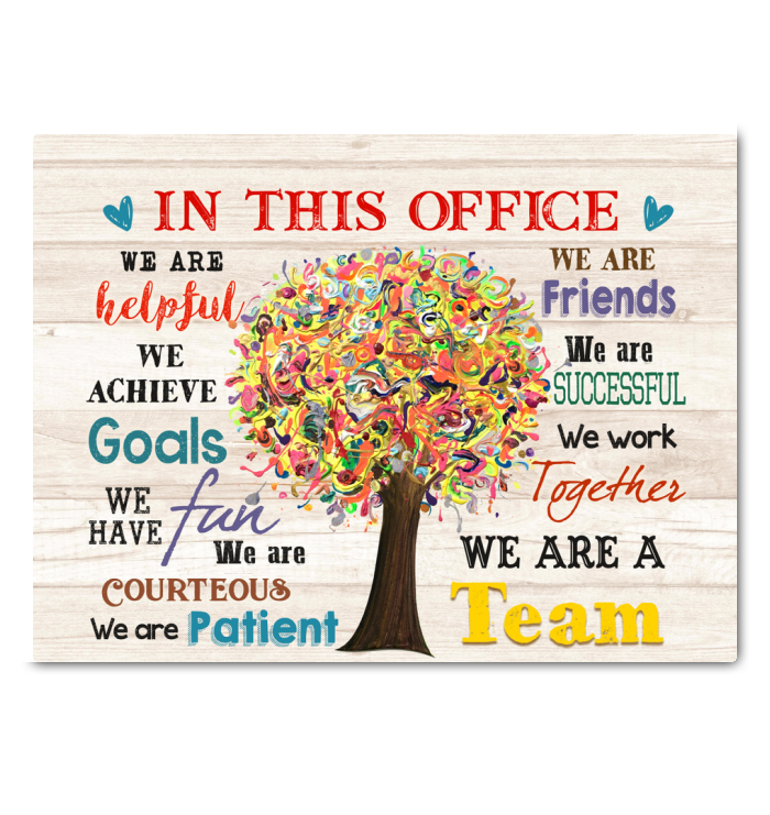 IN THIS OFFICE - Canvas - We are a team Ver.6