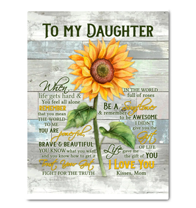 Sunflower - Canvas - To My Daughter - Be A Sunflower