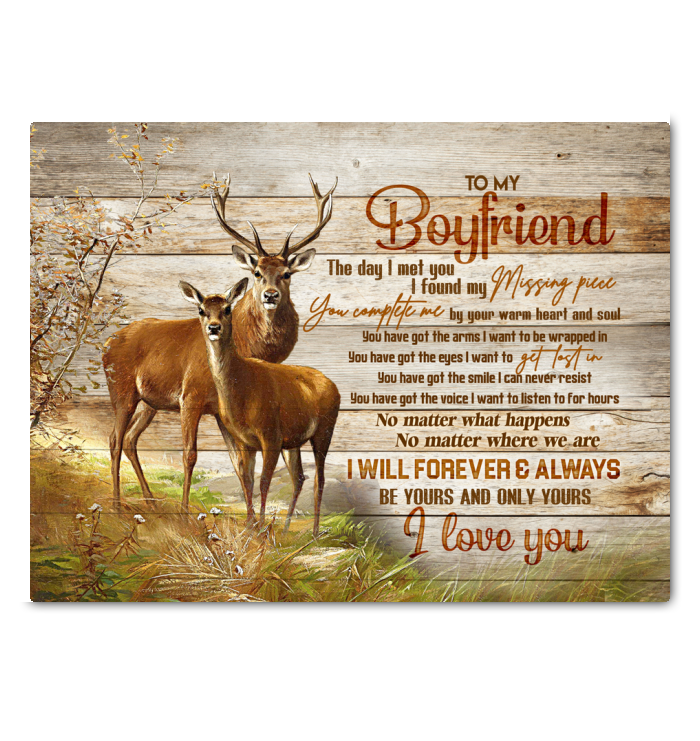 Deer Canvas To My Boyfriend Be Yours And Only Yours - Hayooo Shop