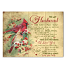 Cardinal - Canvas - To My Husband - I Love You Forever And Always