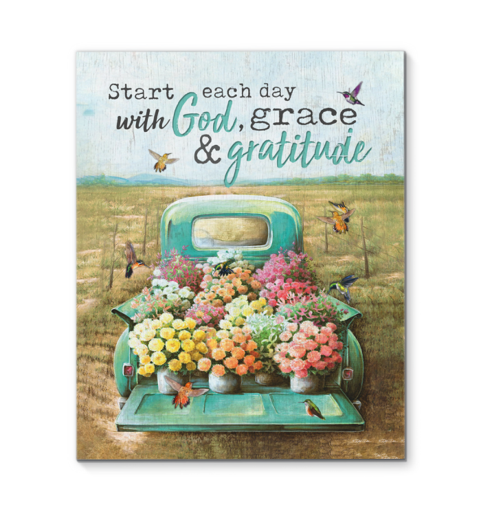 Canvas Hummingbird God, Grace & Gratitude
