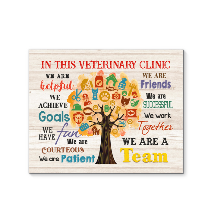 IN THIS VETERINARY CLINIC - Canvas - We are a team