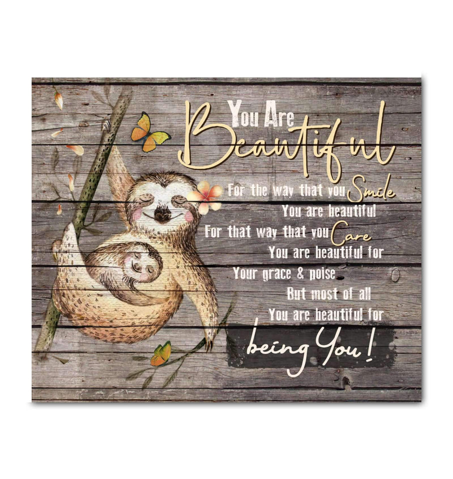 CANVAS - Sloth - You Are Beautiful - yenyenstore