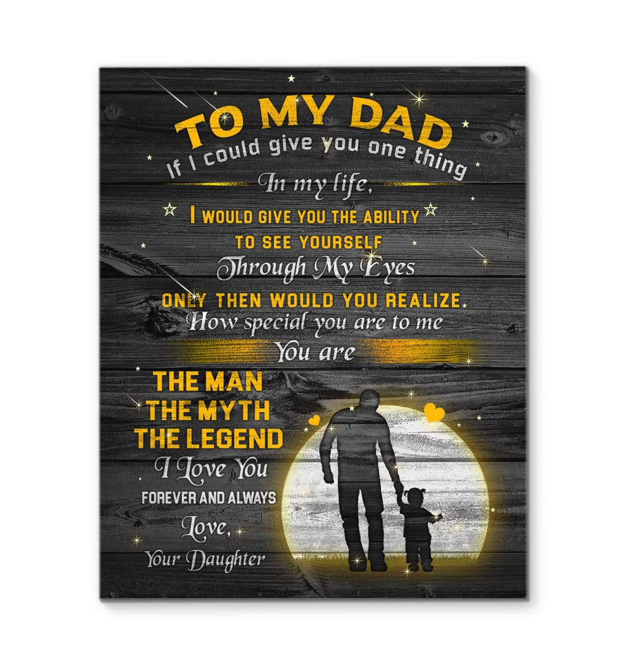 CANVAS - DAD - The Man The Myth The Legend - yenyenstore
