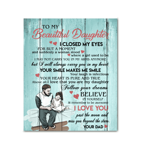 CANVAS - To my Daughter - Your smile makes me smile - yenyenstore
