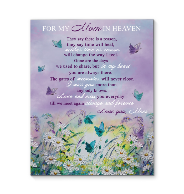 GL-KM - Canvas - Butterfly - For My Mom In Heaven