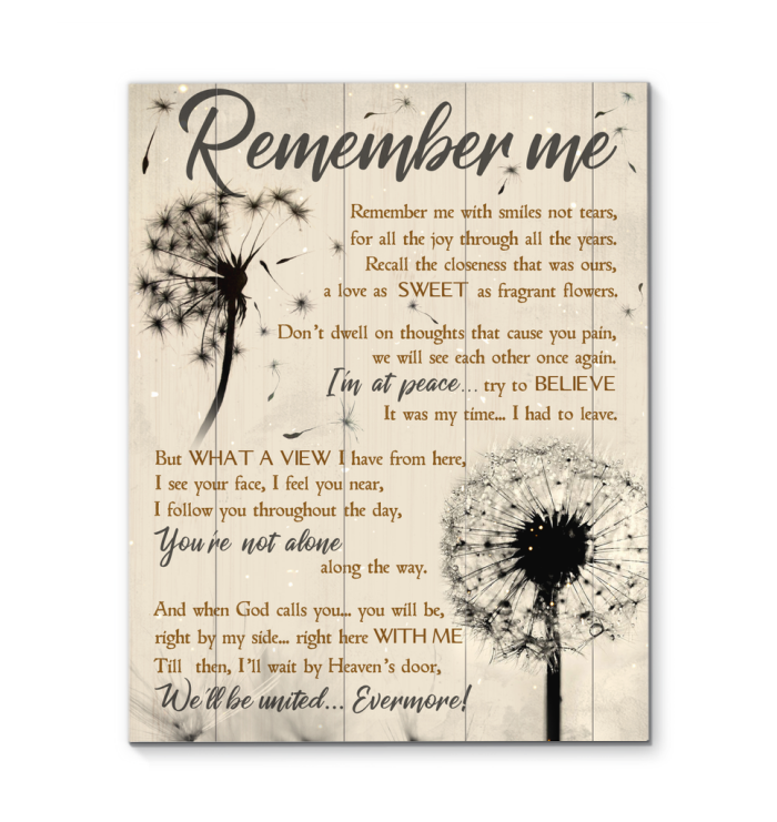 Dandelion Canvas Remember Me - Hayooo Shop