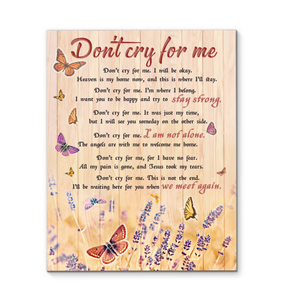 Butterfly - Canvas - Don't cry for me