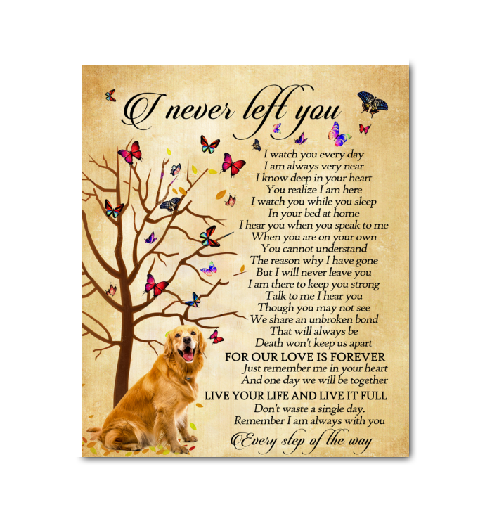GL - Canvas - Golden Retriever - I Never Left You