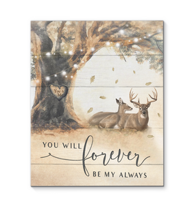 Canvas Buck & Doe You Will Forever Be - Hayooo Shop