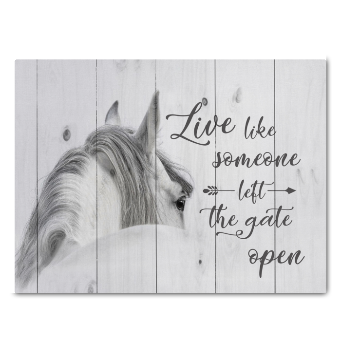 Canvas Horse Live Like Someone...