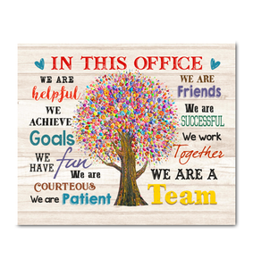In This Office Canvas We Are A Team Ver.5