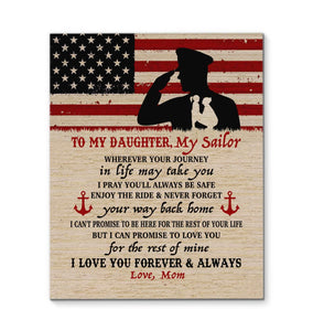 CANVAS - Navy Daughter - Wherever your journey in life may take you - yenyenstore