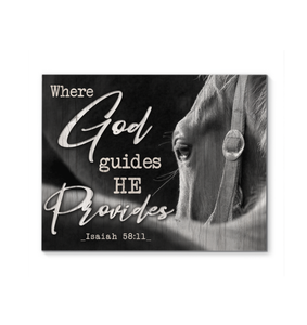 Canvas Horse Where God Guides