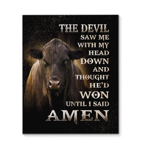 Canvas - Cow - The Devil - yenyenstore