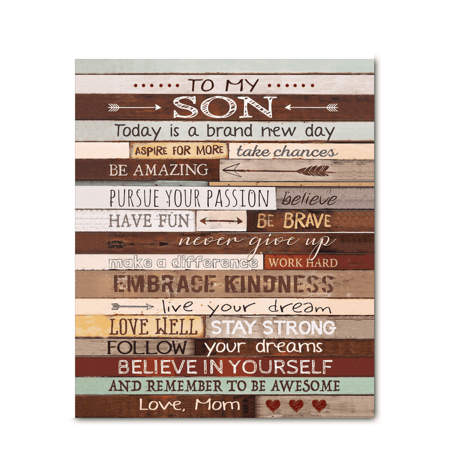 CANVAS - To My Son (Mom) - Today is a brand new day - yenyenstore