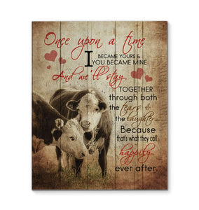 Canvas - Cow - Once Upon A Time - yenyenstore