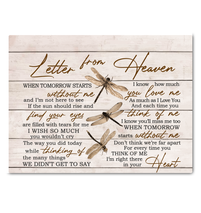 Hay Canvas Dragonfly Letter From Heaven - Hayooo Shop