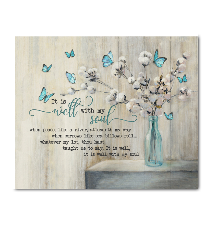 Canvas - Butterfly - It Is Well With My Soul