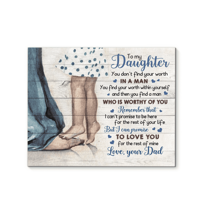 CANVAS - To my daughter - Worthy of you - yenyenstore