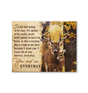 Canvas Buck&Doe You And Me Everyday - Hayooo Shop
