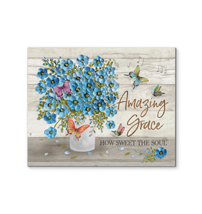 Hayooo Amazing Grace How Sweet The Soul  Flowers Canvas Prints Wall Art