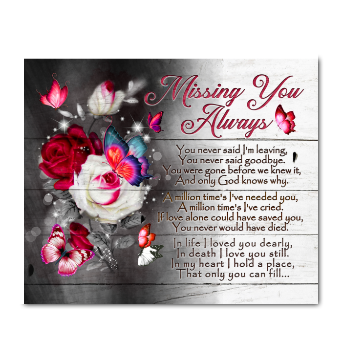 Canvas Butterfly Missing You Always - Hayooo Shop