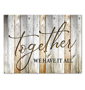 Home Canvas Together We Have It All - Hayooo Shop