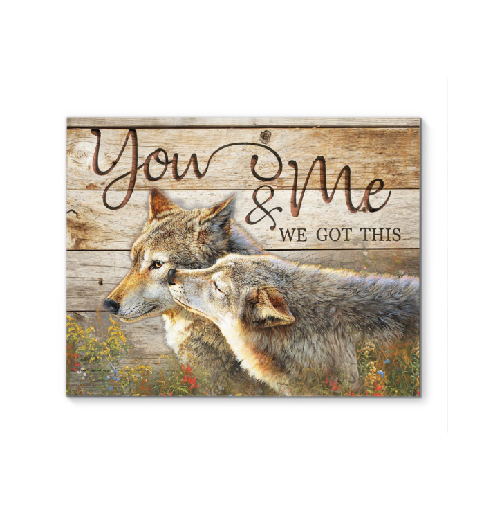 Canvas Wolf You&Me Ver3 - Hayooo Shop