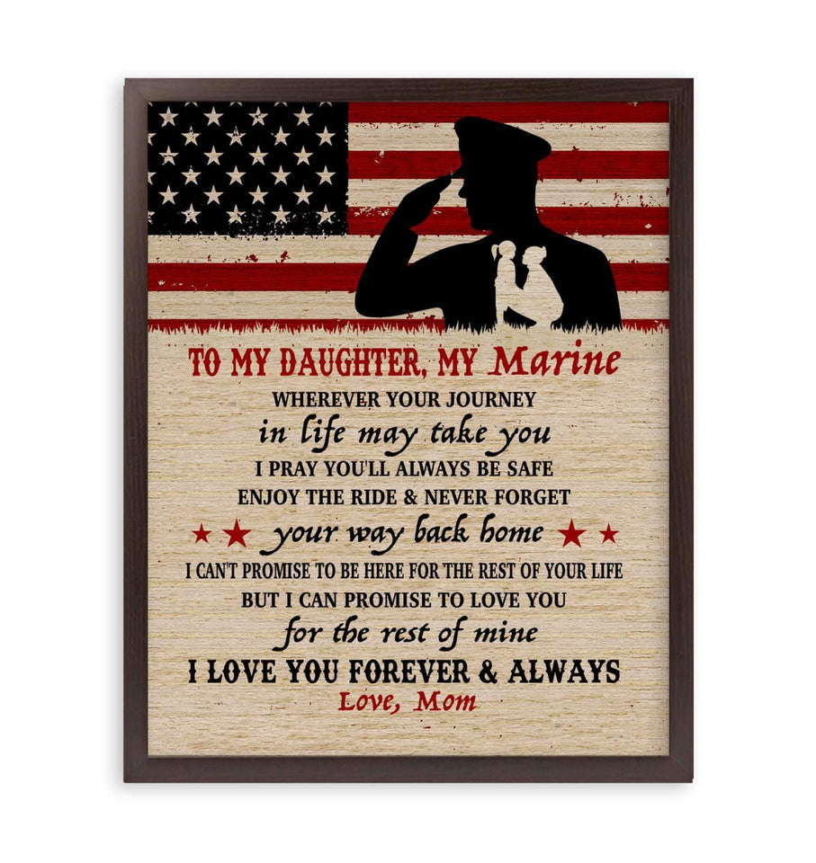 CANVAS - Marine Daughter - Wherever your journey in life may take you - yenyenstore