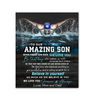 Swimming - Canvas - To Our Amazing Son - Believe In Yourself