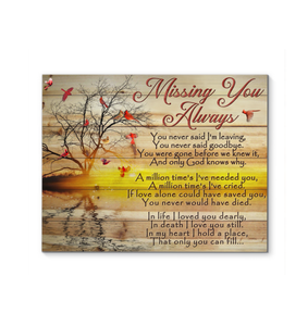 Canvas Cardinal Missing You Always - Hayooo Shop