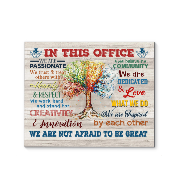 Police In This Office Canvas We Are Not Afraid To Be Great Ver.5 - Hayooo Shop