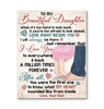 CANVAS - To my Daughter - Look right beside you - yenyenstore