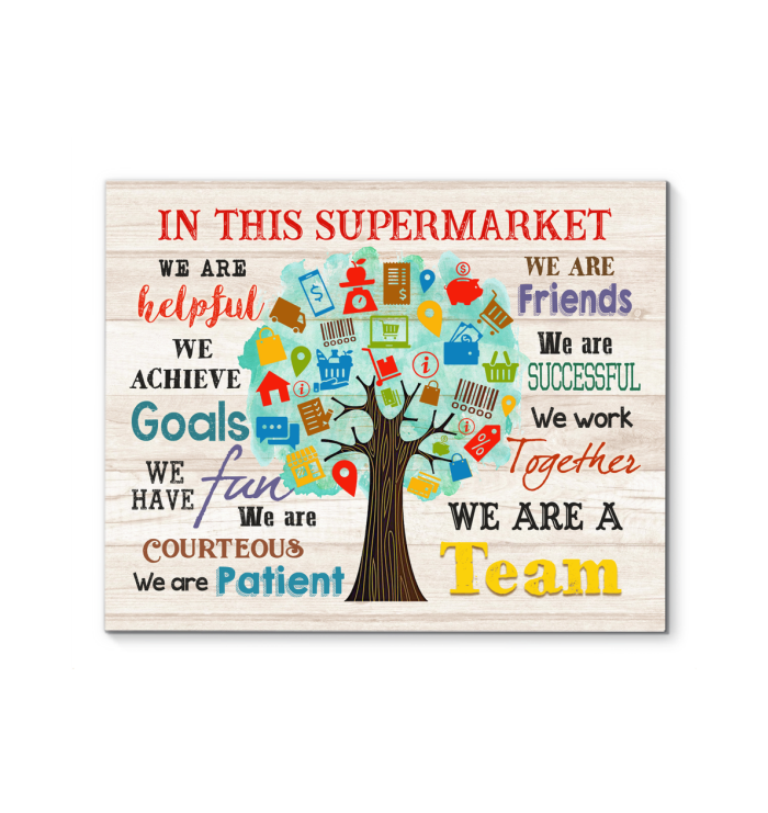 IN THIS SUPERMARKET - Canvas - We are a team Ver.4