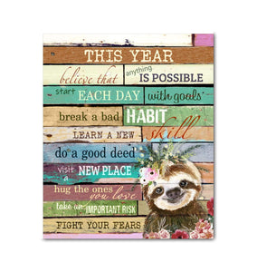 Canvas - Sloth - This Year - yenyenstore