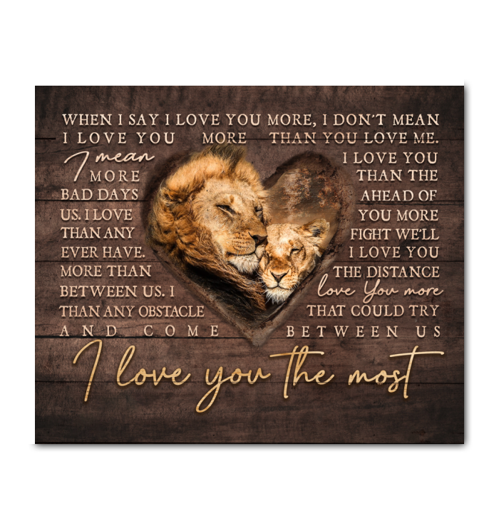 Canvas - Lion - I Love You The Most ver3