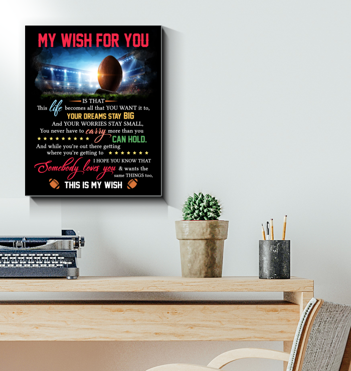 Football Canvas My Wish For You