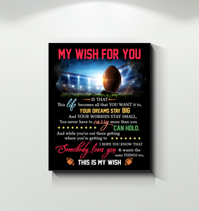 Football - Canvas - My Wish For You