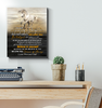 Horse Canvas To Our Amazing Daughter Believe In Yourself - Hayooo Shop