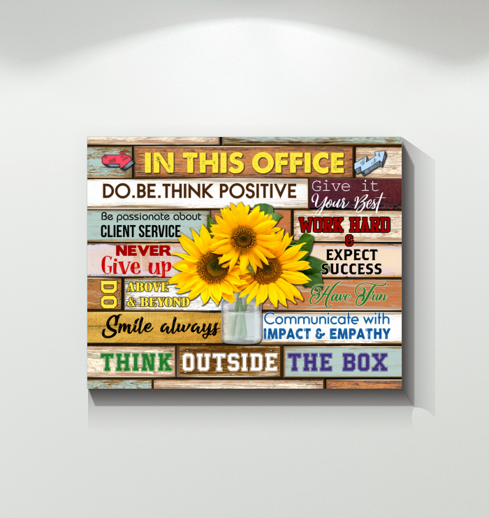Canvas In This Office Do.Be.Think Positive V2