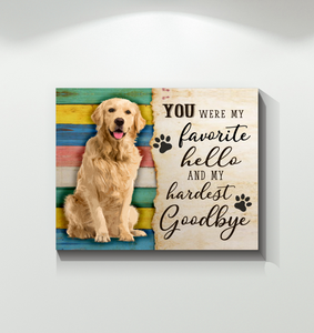 CANVAS - Golden Retriever - My hardest goodbye