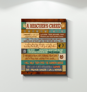 Canvas A Rescuer'S Creed