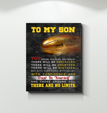 Sport - Canvas - To My Son - There Are No Limits