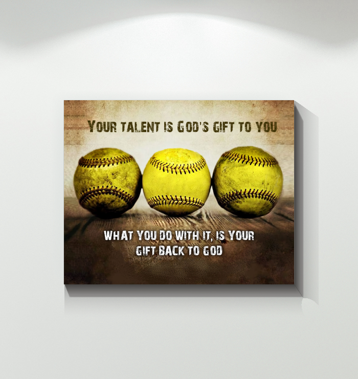 CANVAS - Softball - Gift back