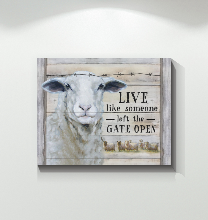 Canvas - Sheep - Live Like Someone...