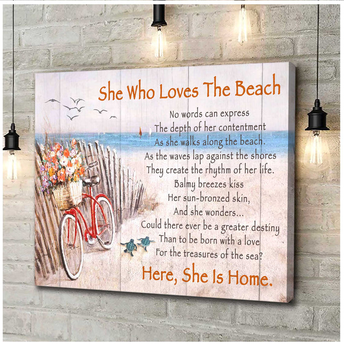 Canvas - Turtle - She who loves the beach