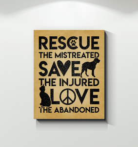 Canvas Rescue The Mistreated