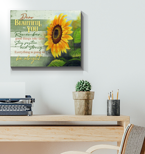 Sunflower - Canvas - Dear Beautiful You