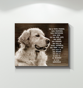 CANVAS - Golden Retriever - She is your friend